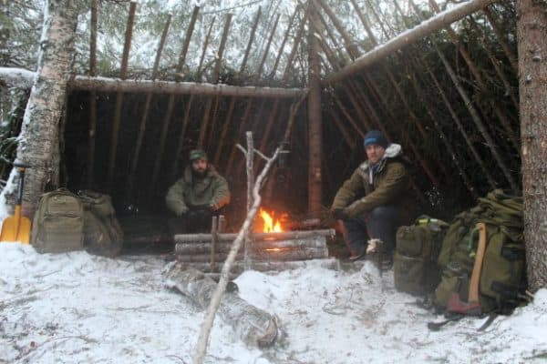 Winter bushcraft skills in Northern Sweden