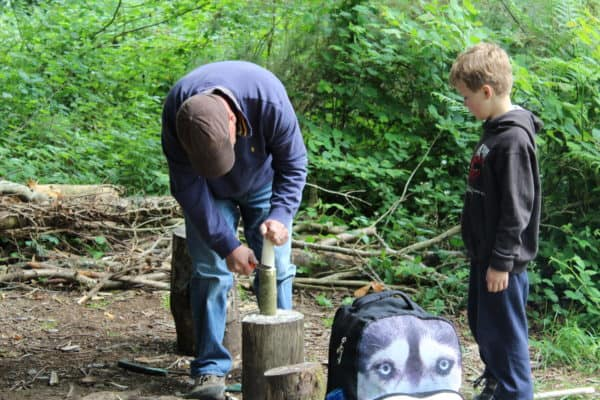 Survival and Bushcraft skills on our Father and Son event